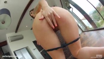 Chick with ahole enjoys being fucked hard